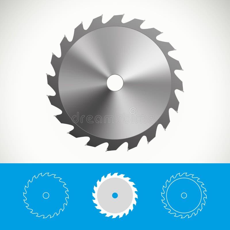 La circular vio el icono diseñar ilustración del vector