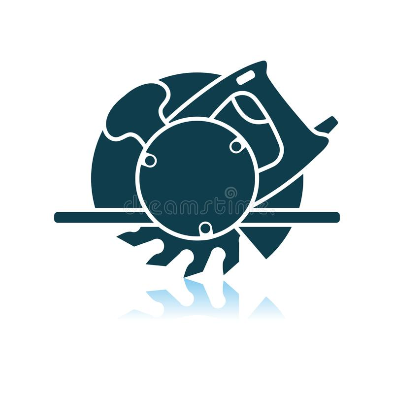 La circular vio el icono libre illustration