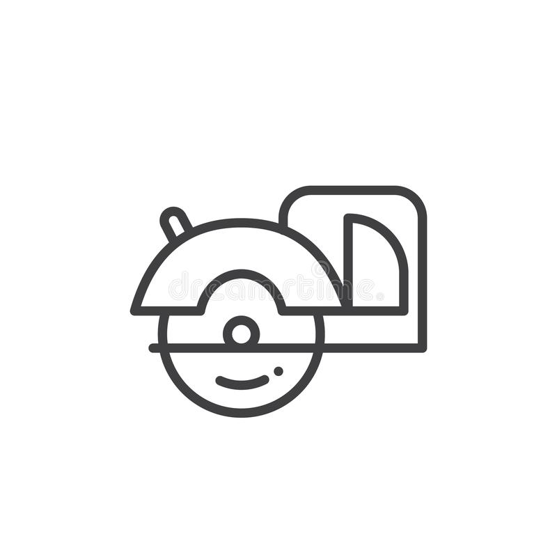 La circular vio la línea icono stock de ilustración
