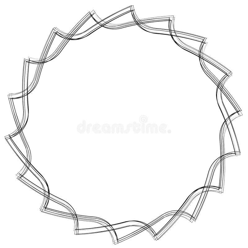 La circular vio la lámina Forma/símbolo/icono abstractos ilustración del vector