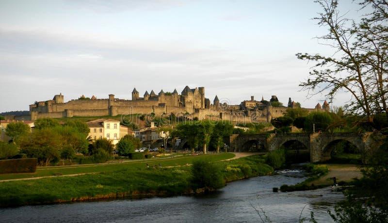 La Cité de Carcassonne arkivfoton