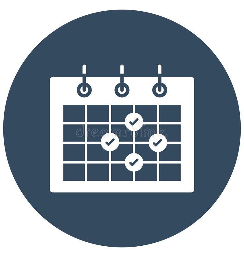 La cita, calendario, icono aislado evento del vector puede estar fácilmente corrige y se modifica libre illustration