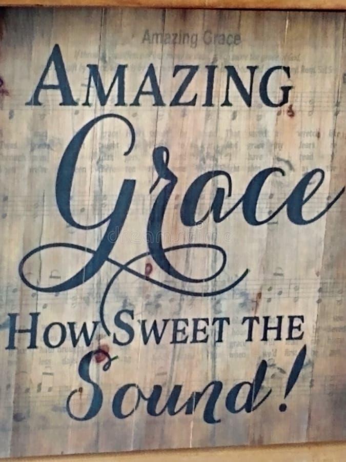 La cita decorativa de Amazing Grace foto de archivo