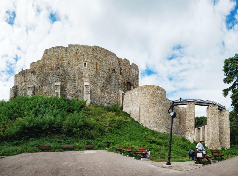 La citadelle de Neamt est une forteresse médiévale en Roumanie images libres de droits
