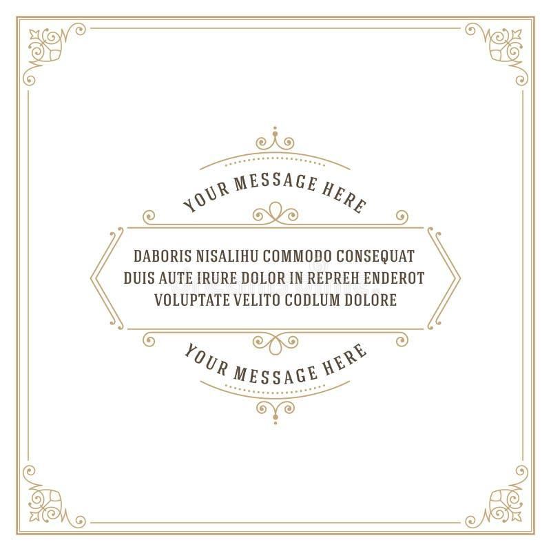 La citation d'ornement de vintage marque le vecteur de cadre de boîte illustration libre de droits