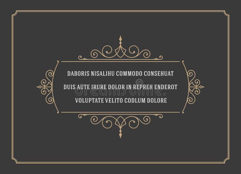 La citation d'ornement de vintage marque le vecteur de cadre de boîte illustration de vecteur