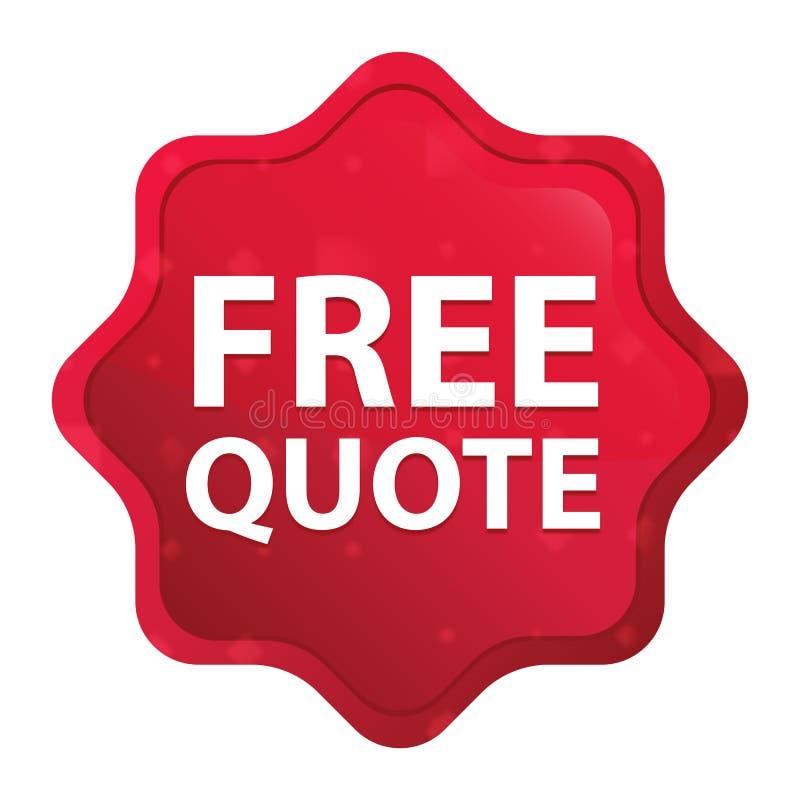 La citation libre brumeuse a monté bouton rouge d'autocollant de starburst illustration libre de droits
