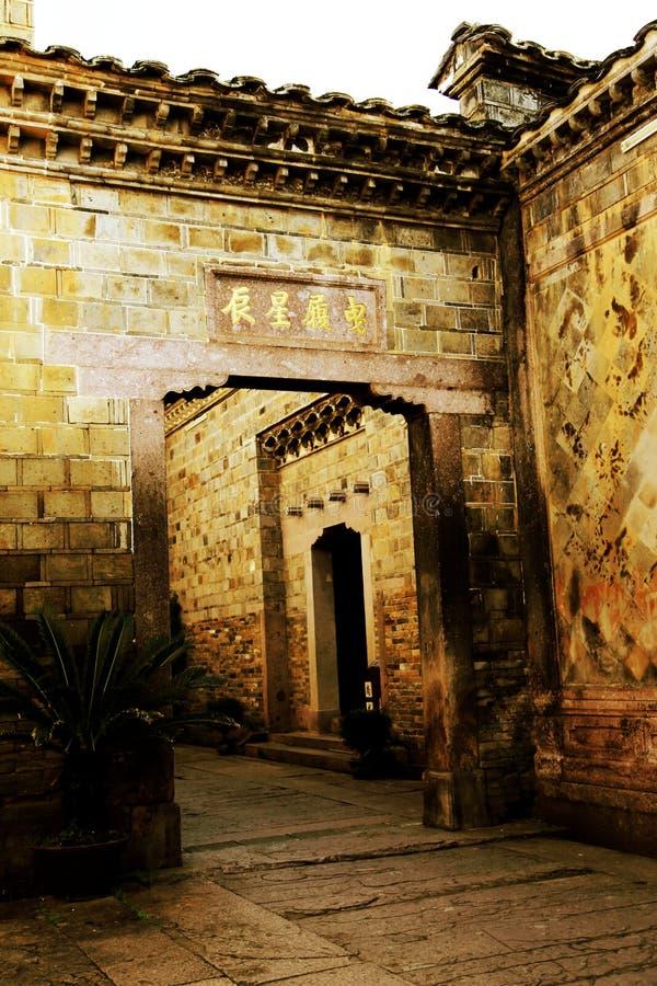 La città antica cinese di Taining fotografia stock libera da diritti