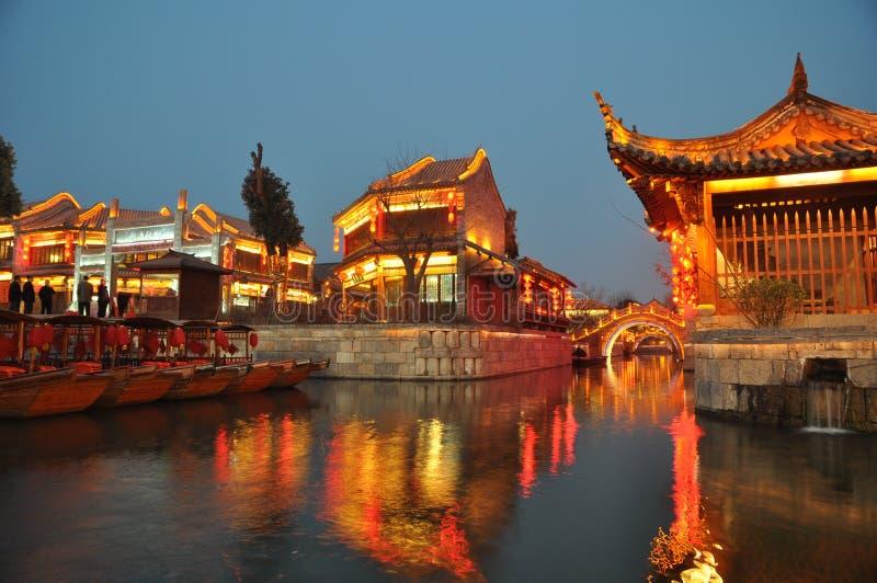 La città antica di Taierzhuang fotografia stock