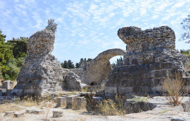 La città antica rovina Kos, Grecia immagine stock