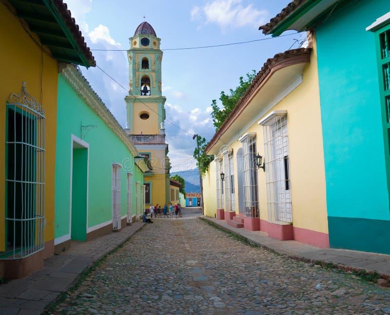 La città coloniale della Trinidad in CubaA fotografia stock libera da diritti