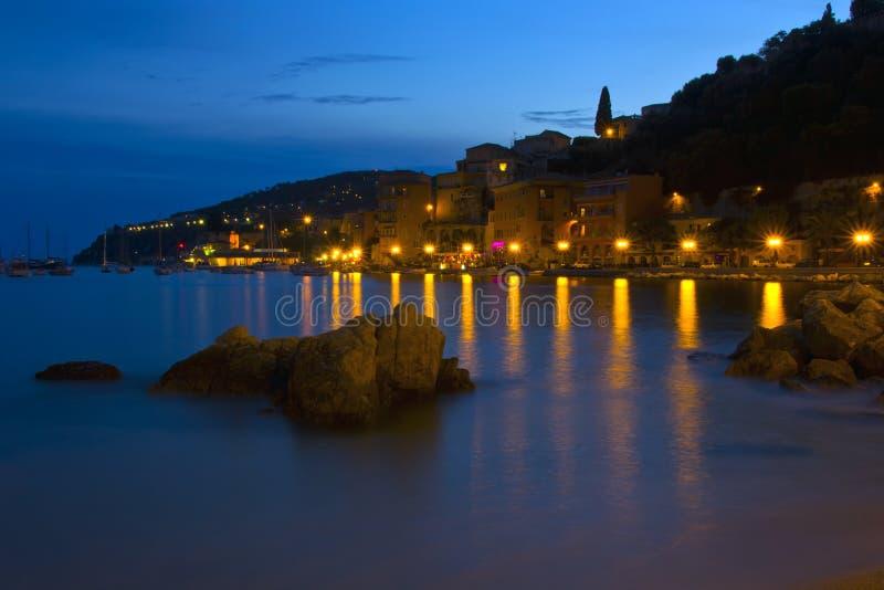 La città del Villefranche-sur-Mer, Francia fotografia stock libera da diritti