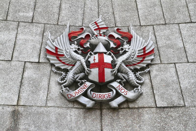 La città della cresta di Londra immagini stock libere da diritti