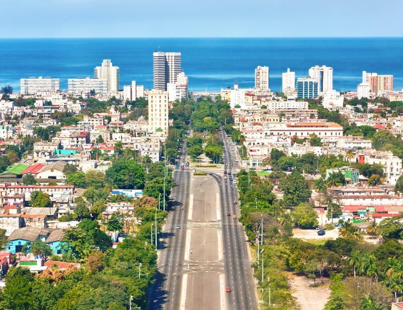 La città di Avana un bello giorno di estate fotografia stock libera da diritti