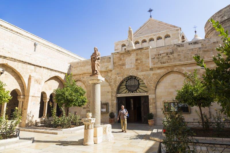 La città di Bethlehem La chiesa della natività di Jesus Christ fotografia stock