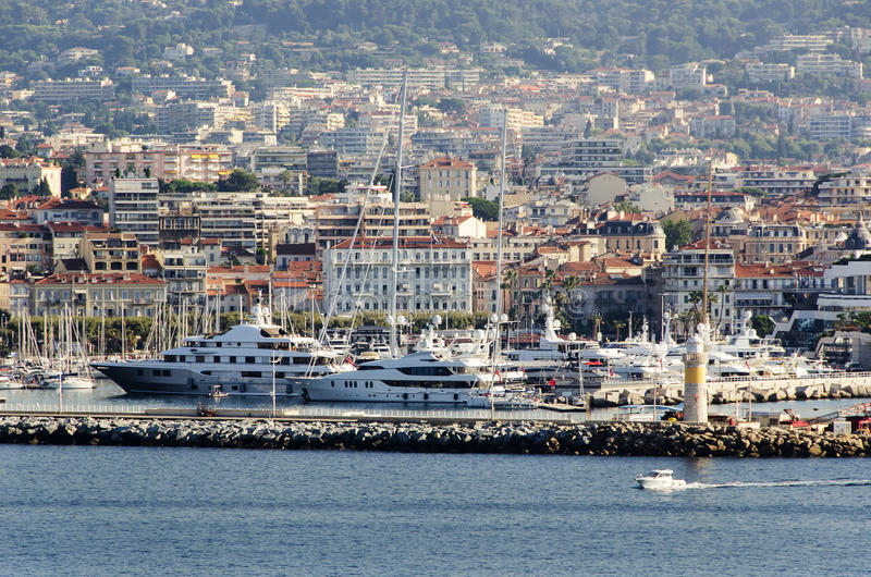 La città di Cannes, Francia immagini stock libere da diritti