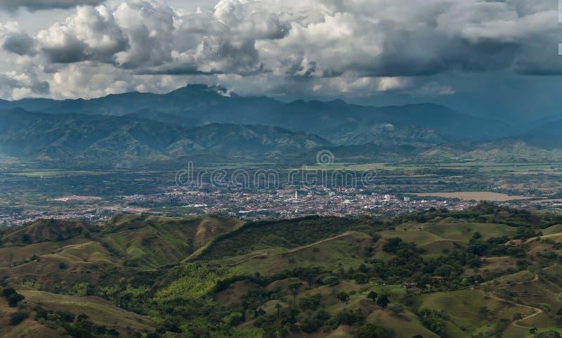 La città di Cartago, Valle del Cauca, Colombia fotografia stock libera da diritti
