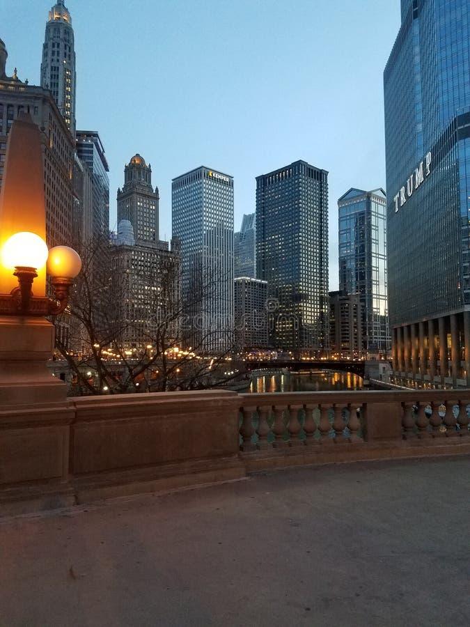la città di Chicago fotografia stock libera da diritti
