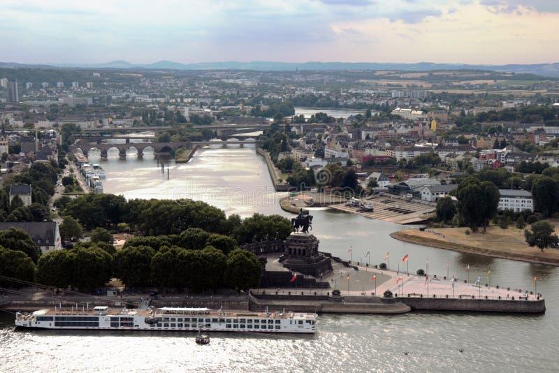 La città di Coblenza, Germania fotografia stock libera da diritti