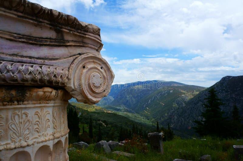 La città di Delfi in Grecia fotografia stock libera da diritti