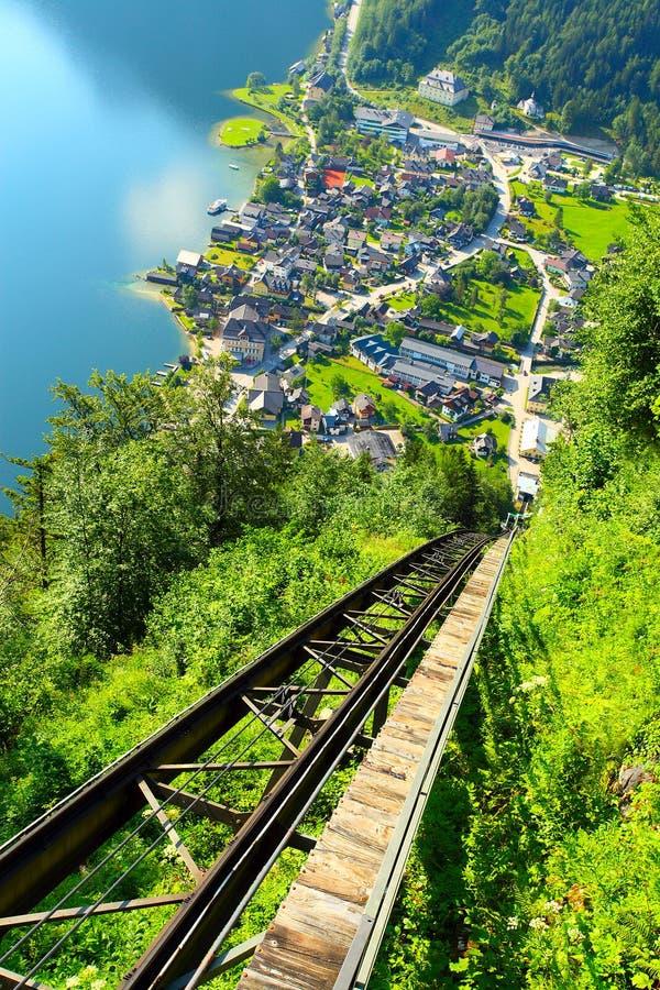 La città di Hallstatt. fotografia stock