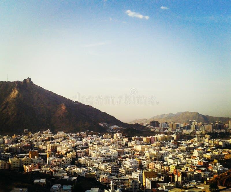 La città di La Mecca fotografia stock