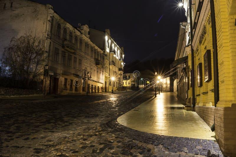 La città di notte immagini stock