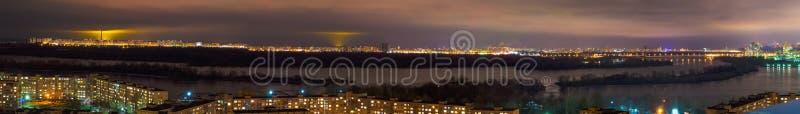 La città di notte kiev fotografie stock