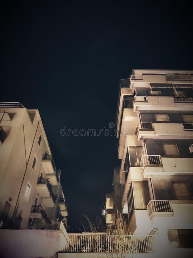 La città di notte si dirige il pescara urbano immagini stock libere da diritti