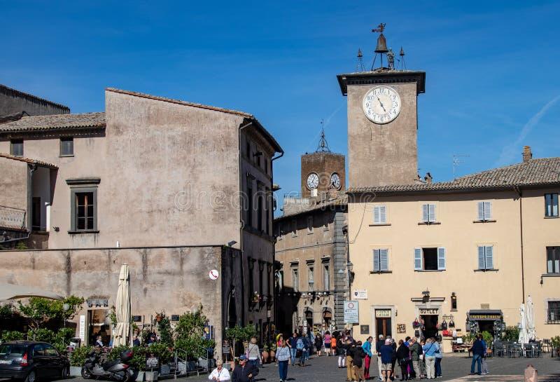La città di Orvieto fotografie stock