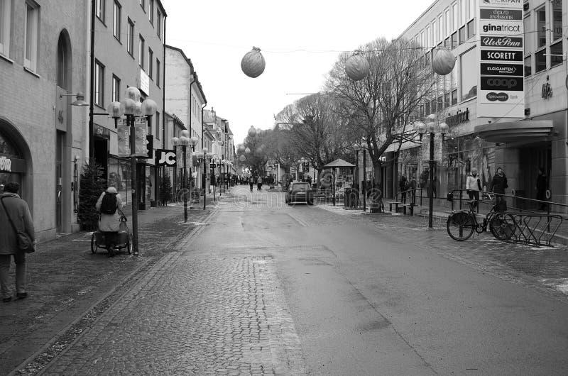 La città di Ostersund in Sweden-02 03 2019 fotografia stock