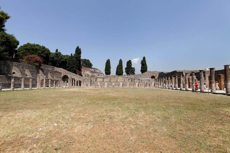 La città di Pompei, città romana antica vicino a Napoli fotografie stock
