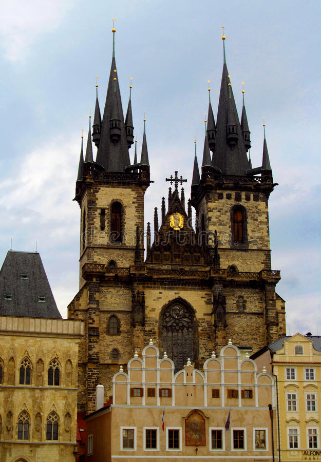 La città di Praga fotografia stock