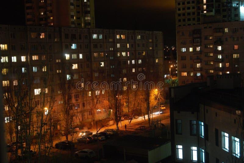 La città di sera è così bella fotografia stock