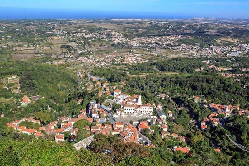 La città di Sintra immagini stock libere da diritti
