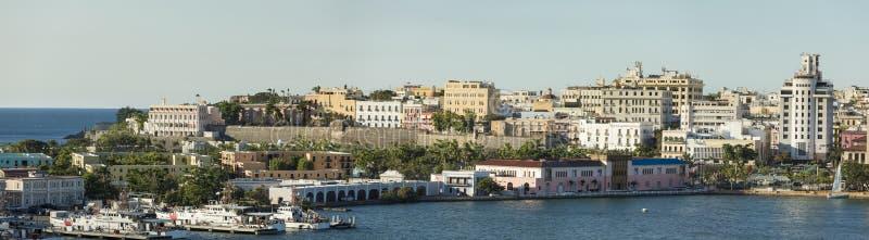 La città di vecchio San Juan, Porto Rico immagini stock