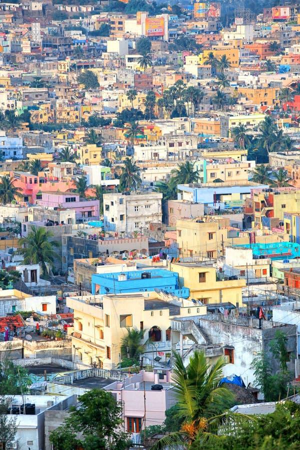 La città di Visakhapatnam è la capitale finanziaria dello stato di Andhra Pradesh in India fotografie stock