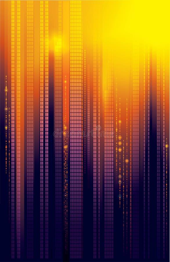 La città illumina la priorità bassa di vettore illustrazione vettoriale