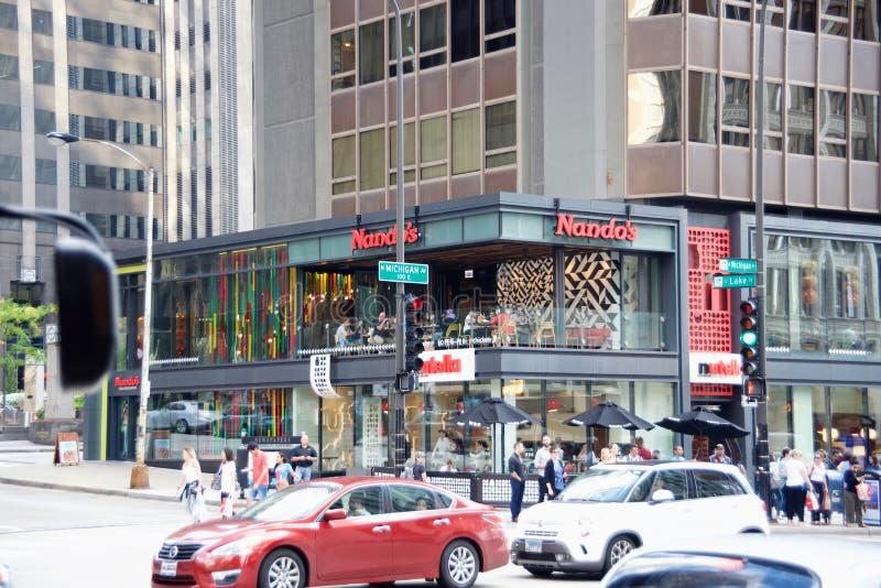 La città internazionale di Nando, Chicago, Illinois immagini stock libere da diritti
