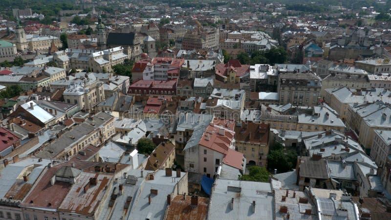 La città Leopoli in Ucraina fotografie stock libere da diritti