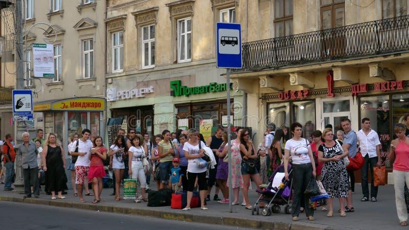 La città Lviv in Ucraina fotografie stock