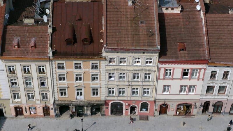 La città Lviv in Ucraina immagine stock libera da diritti