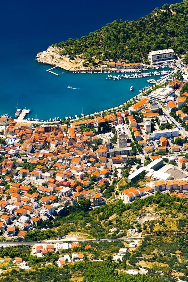 La città Makarska fotografia stock libera da diritti