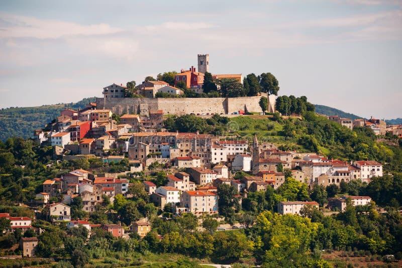 La città Motovun immagine stock