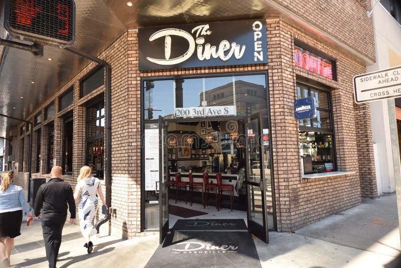 La città Nashville, TN del ristorante della cena fotografia stock libera da diritti