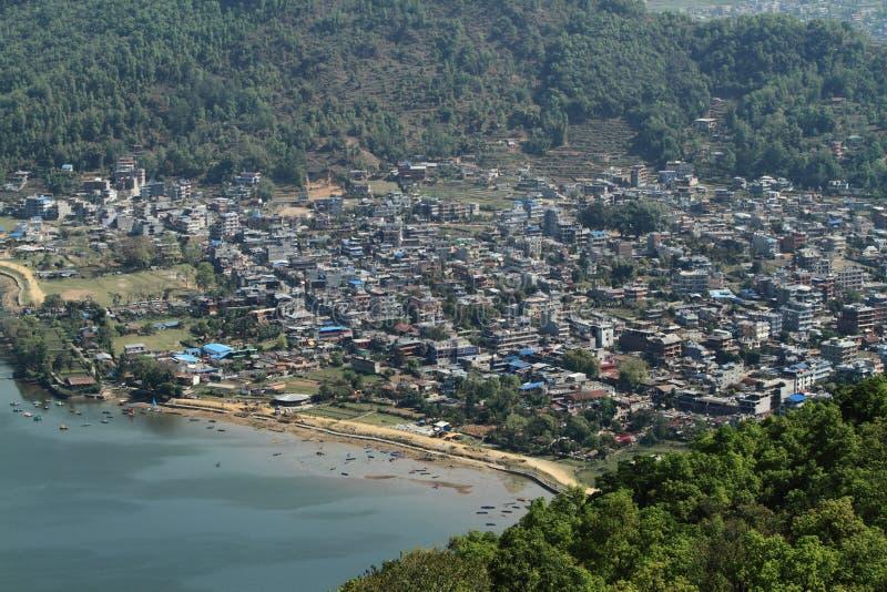 La città Pokhara fotografia stock libera da diritti