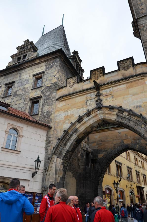 La città storica di Praga fotografia stock