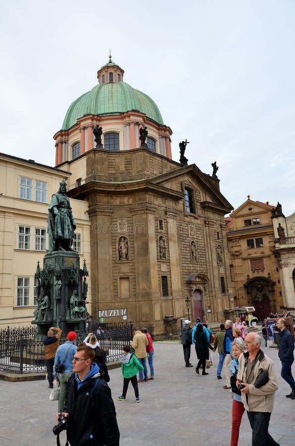 La città storica di Praga immagini stock libere da diritti