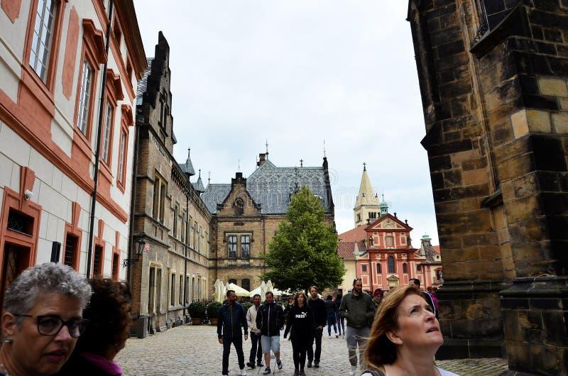 La città storica di Praga immagini stock