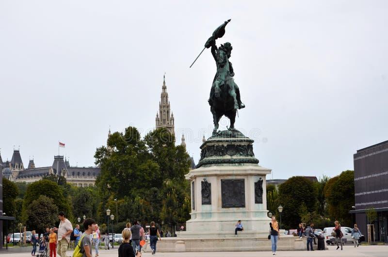 La città storica di Vienna fotografia stock